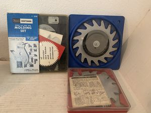 3 Sears Craftsman Saw Blades- Radial and Table Saw Molding 2 Kromedge for Sale in Beaverton, OR