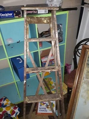 Wood ladder wobbly but works for Sale in Maplewood, MN