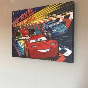 Cars 3 LED Canvas Wall Art for Sale in Rockville, MD