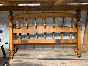 Wooden headboard frame for Sale in Fairmont, WV