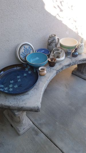 beautiful! collection of vintage pottery , signed , stamped numbered , all in excellent condition for Sale in Rancho Cucamonga, CA