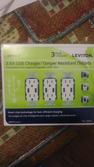 3.6 amp USB charger/ tamper resistant outlets for Sale in Klamath Falls, OR