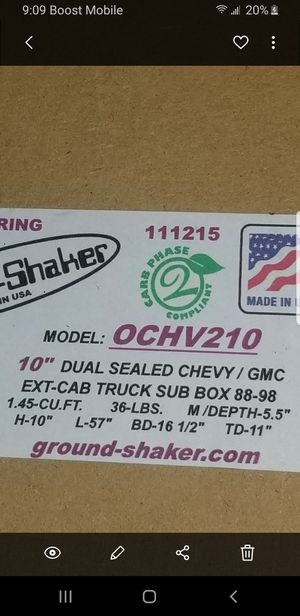 Extended cab subwoofer box for Sale in Modesto, CA