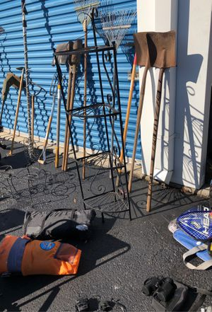 Fishing equipment camping equipment planters what knots all at simply storage on Birdneck Road call me at will set a time for you to com for Sale in Virginia Beach, VA
