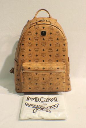 Authentic Medium Stark MCM Backpack in Visetos (Cognac) for Sale in West Palm Beach, FL