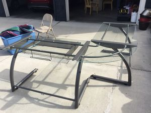 Large glass desk for Sale in Chelan, WA