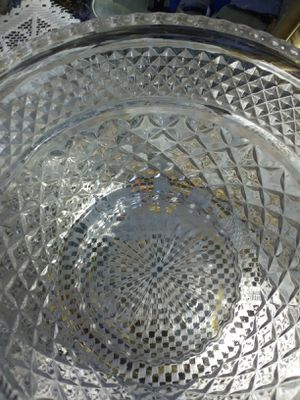 Crystal cut glass serving bowl for Sale in Wichita, KS