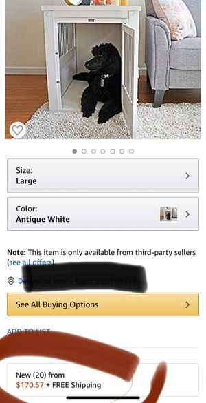 Dog crate/end table for Sale in Bakersfield, CA