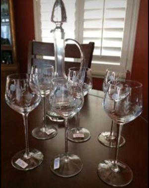 Vintage Toscany Wine Decanter and Long Stem Wine Glasses for Sale in San Leandro, CA