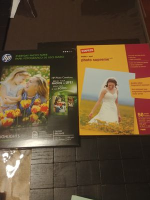 HP / Staples 4x6 Photo Paper for Sale in Glen Burnie, MD