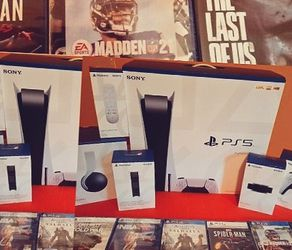 Playstation 5 New Never Open +6 Games for Sale in Denver,  CO
