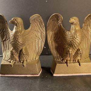 "Vintage Brass Open-Wings American Bald Eagle Bookends (Height: 6-1/4"") for Sale in Dade City, FL"
