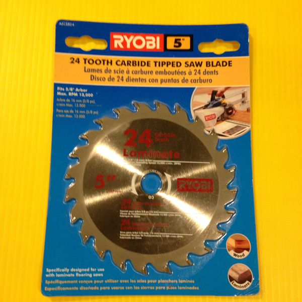 5 Quot Ryobi Laminate Flooring Saw Blade 24 Tooth Carbide