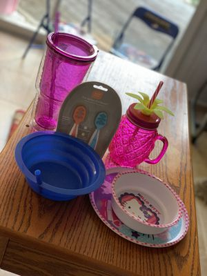 Kids kitchenware (dishes, cups, spoons, tumblers) for Sale in Lilburn, GA