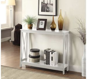 White oxford console entryway table for Sale in Boston, MA