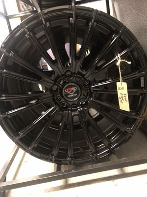 BRAND NEW set (4) Gloss Black 18 inch Rims for only $600!!! for Sale in Lakewood, WA