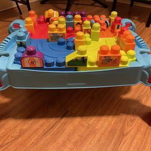 Mega Bloks Build In Table for Sale in Lynn, MA