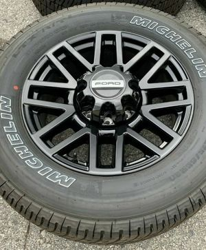 Black F-250 F-350 F250 F350 Wheels Rims Tires Rines for Sale in Downey, CA