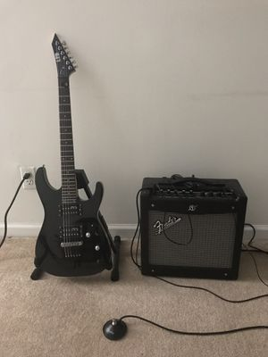 ESP M-10 Electric guitar and Fender Mustang amplifier for Sale in Chesterbrook, PA