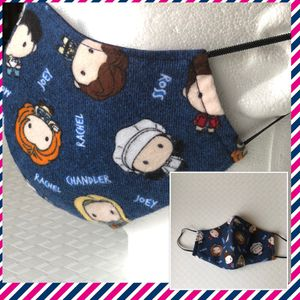Friends Character Toss Flannel Face Mask For Adults for Sale in Grand Prairie, TX