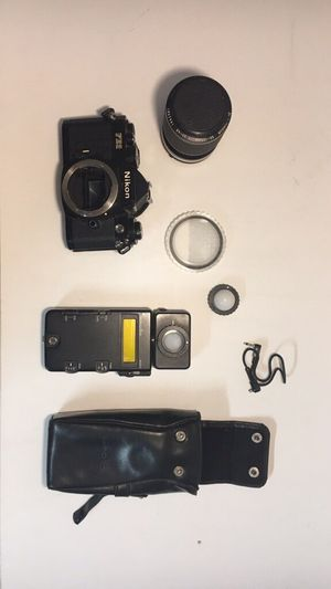 Nikon FE 2 Camera Kit w: 35-105mm lens and light meter for Sale in Chico, CA