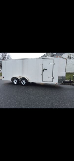 Enclosed trailer 7 x 18 v-nose for Sale in Haddonfield, NJ