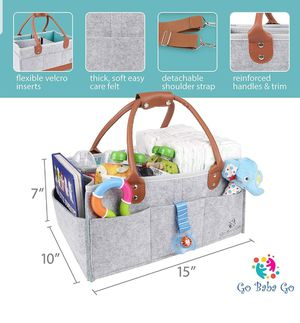 Baby Diaper Caddy: Portable Storage Organizer, Baby Shower Gift, Diaper Tote Bag/Bin for Nursery, Changing Table or Car, with Change Mat for Sale in Wahiawa, HI