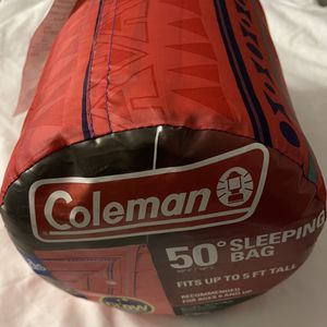 Coleman Kids 50 Degree Glow In The Dark Sleeping Bag - Pink for Sale in Mundelein, IL