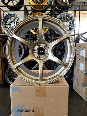 4 NEW AVID1 AV26 WHEELS. 19L8×9.5. 5×100. +38. TOYOTA COROLLA PRIUS 86 SCION FRS SUBARU BRZ. FINANCING AVAILABLE. $50 down only for Sale in Sacramento, CA
