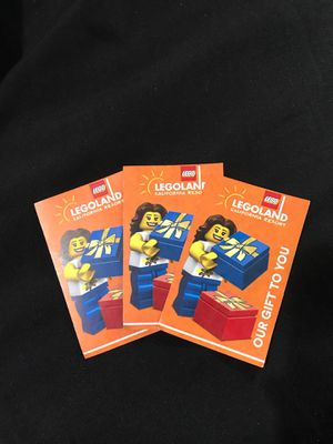 LEGOLAND TICKETS!!! for Sale in Los Angeles, CA