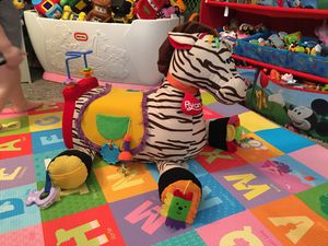 K's Kids Ryan 28 Activity Ride On Zebra Horse Pony Multisensory Toy for Sale in Eighty Four, PA