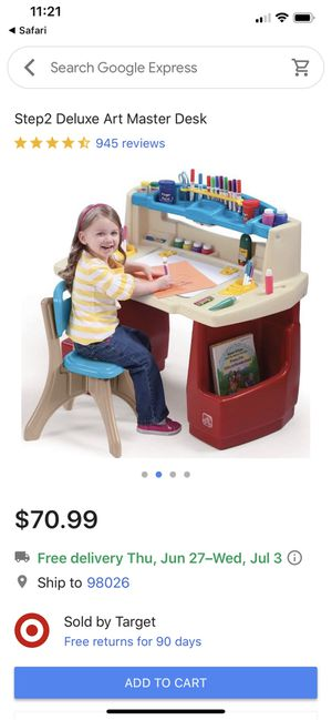 Kid Art Desk and Chair for Sale in Lynnwood, WA