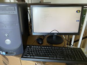 Dell Desktop Computer With Monitor, Keyboard & Mouse, Windows 7, Microsoft Office for Sale in Irvine, CA