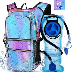 Hiking Hydration Pack Backpack with 2l Water Bladder, Hydration Backpack for Men Women|with 5 Pockets, Concealed Pockets On Back Great for Festivals, for Sale in Claremont, CA