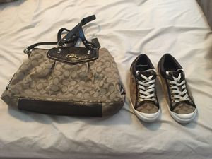 Coach shoes with matching purse for Sale in Sacramento, CA