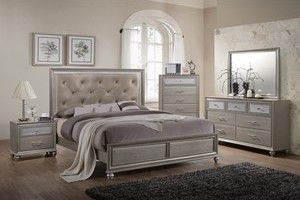 🌟🌟SUPER SALE ( Lila Collection Bedroom Set) 4 PCS QUEEN BEDROOM * Mattress Not included *