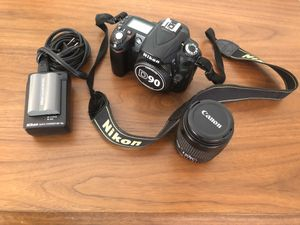 Nikon D90 DX-Format CMOS DSLR Camera (+ battery & power cord) & 35-90mm lenses for Sale in Los Angeles, CA