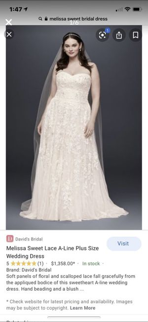 Melissa sweet wedding dress brand new with tags and comes with preservation kit . for Sale in Yelm, WA