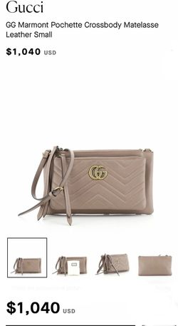 Brand New With Tags Gucci GG Marmont Pochettecrossbody Small Neutral Leather for Sale in Las Vegas,  NV