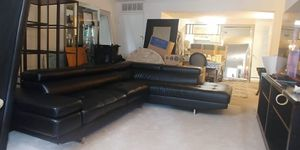 Big Luxury Leather L Shaped Sectional Couch. This Weekend Moving Sale! for Sale in Alexandria, VA