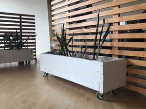 White wooden planters on wheels for Sale in Nashville, TN