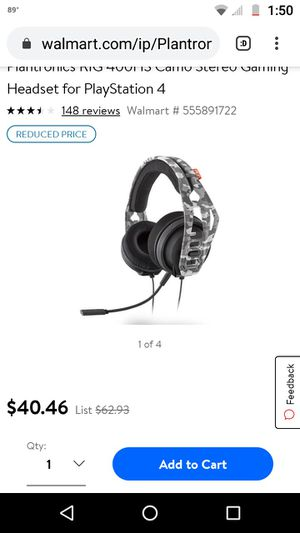 Plantronics 400 Gaming stereo headphones for Sale in Longwood, FL
