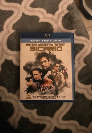 Sicario Blu-Ray and DVD (NO DIGITAL CODE) for Sale in Los Angeles, CA