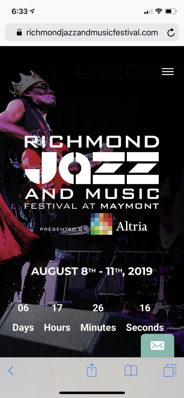 30% off 2 tickets to the Richmond Jazz Festival