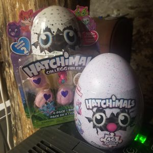 Hatchimals toy set puzzle plus 4 pack new for Sale in Marietta, PA