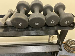 Dumbbells set and standard weights for Sale in Wallingford, CT