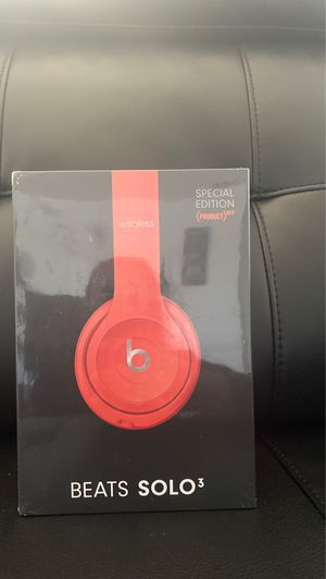 Beats Solo 3 Special Edition RED‼️ for Sale in St. Petersburg, FL
