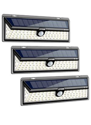 Solar Lights Outdoor, 100 LED Motion Sensor Light with 270° Wide Angle, 3 Optional Modes IP65 Waterproof Solar Security Wall Lights for Garden, Front for Sale in Eastvale, CA