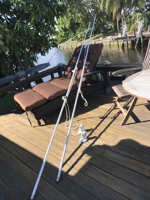 Set of excellent Mooring Whips with bases made in USA, heavy duty for Sale in Fort Lauderdale, FL