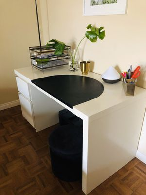 IKEA Desk with Drawer and Cupboard Storage for Sale in La Costa, CA